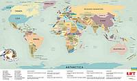 Скретч карта мира UFT Scratch World Map на английском языке (19322)