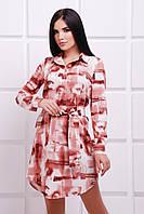 Женское платье-рубашка Soft FashionUp 42-48  размеры