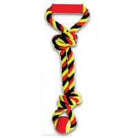 """Игрушка для собак Грейфер канат  цветной с узлами 11""""  \  XJ0020"""