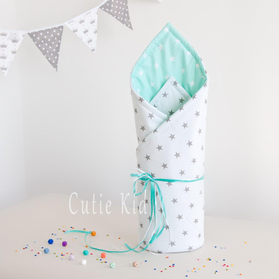 """Конверт-одеяло на выписку для новорожденных """"Stars"""""""