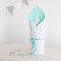 """Конверт-одеяло на выписку для новорожденных """"Stars"""", фото 1"""