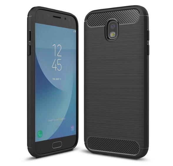 Чехол PRIMO Carbon Fiber Series для Samsung J7 2017 (SM-J730) - Black