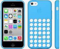 Оригинальный силиконовый чехол Apple Case iPhone 5C (Blue)