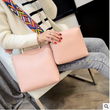 Стильная городская сумка с красочным поясом + клатч 2в1