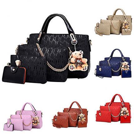 Сказочный набор сумок с брелком, 4в1, фото 2