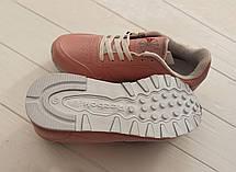 Женские кроссовки Reebok Pink Classic (розовые) 36 размер реплика, фото 3