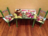 Стол со стульями Маша и медведь для детей