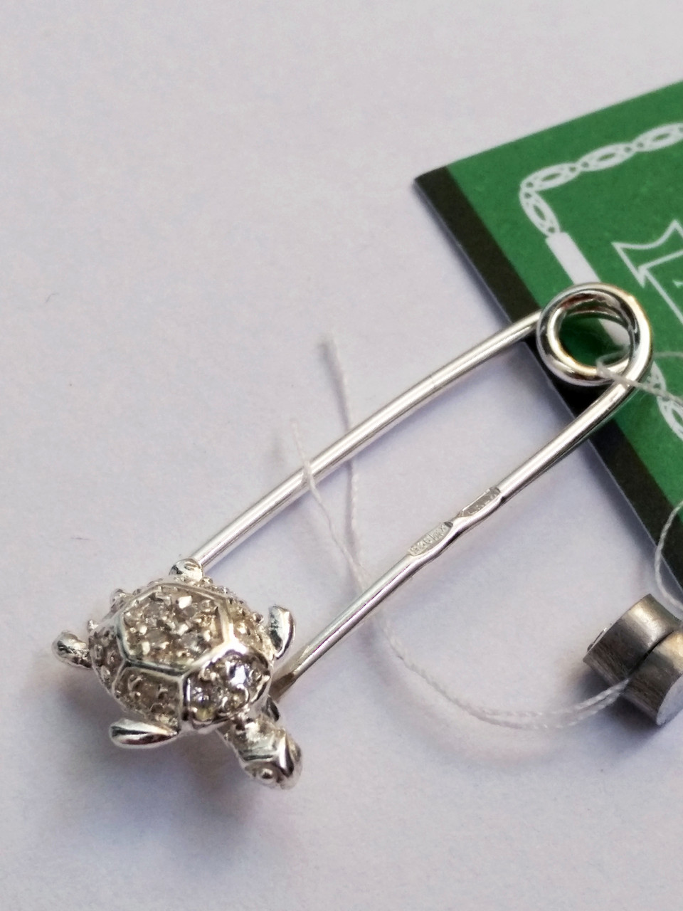 Серебряная брошь булавка Черепашка