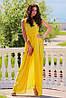 Желтое платье в пол Золото