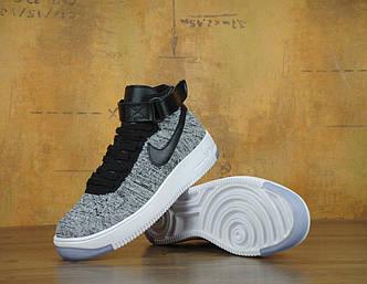 Кроссовки Nike Air Force 1 Ultra Flyknit Oreo Grey, найк аир форс