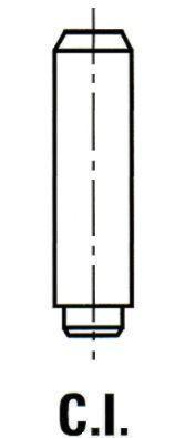 Направляющая втулка клапана впуск/выпуск Fiat Doblo 1.2/1.4i 01- 10mm/5mm