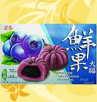 Мочи с черникой, Fruit-Mochi Blueberry, Mochi Khoai Tia, 210г/уп(30г/шт), один вкус, Royal Family, Md