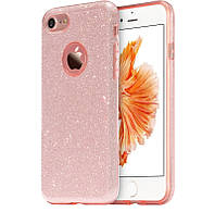 Силиконовая накладка Gliter для Iphone 7/8 (Pink), фото 1