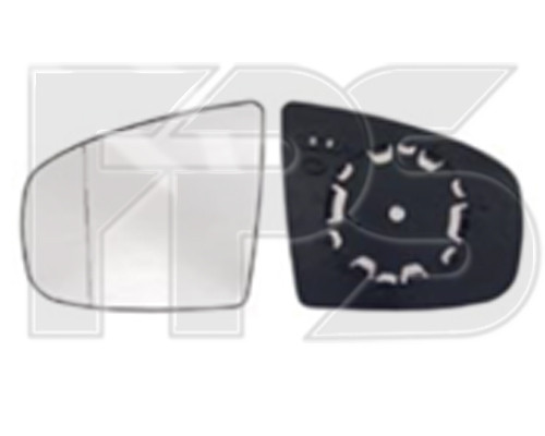 Вкладыш зеркала BMW X5 E70 07-10 левый (FPS) FP 1412 M13