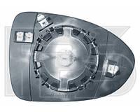 Вкладыш бокового зеркала Kia Rio 14- левый (VIEW MAX) Кор. сборка, с обогревом