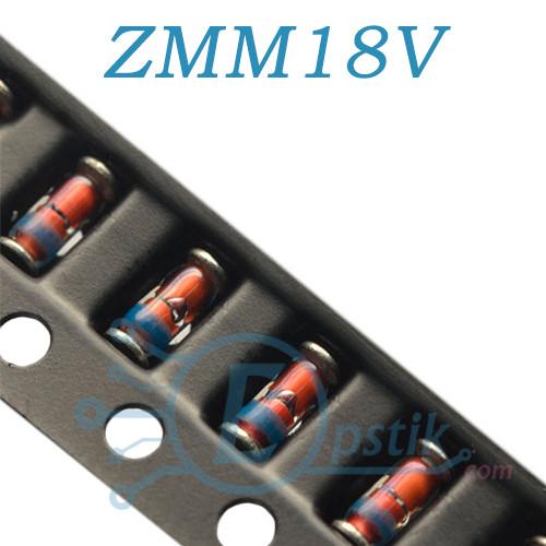 ZMM18V, стабилитрон 18В, 0.5Вт, SMD