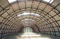 Ангары арочные бескаркасные, зернохранилища, склады.