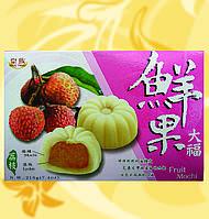 Мочи с личи, Fruit Mochi-Lychee, Mochi Khoai Tia, 210г/уп(30г/шт), один вкус, Royal Family, Md, фото 1