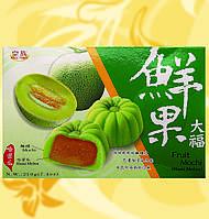 Мочі азіатська диня, Fruit Mochi-Hami Melon, Mochi Khoai Tia, 210г/уп(30г/шт), Royal Family, Md, фото 1