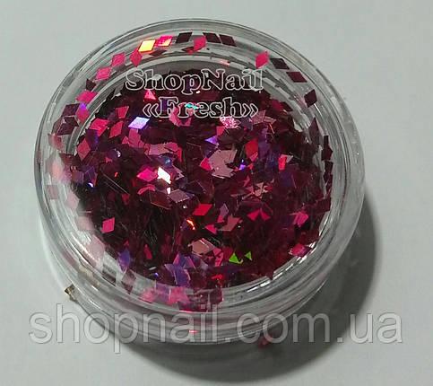 Ромбики для дизайна, темно розовые, фото 2