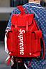 Яркий рюкзак Louis Vuitton Supreme натуральная кожа (реплика)