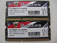 Память SoDIMM G.Skill Ripjaws DDR3-1866 16GB( 8+8) 2Rx8 PC3L-14900S