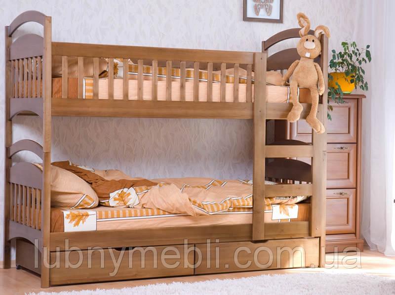 """Кровать двухуровневая в детскую комнату с лестницей  """"Карина люкс"""""""