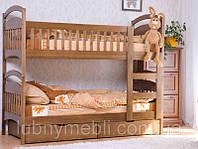 """Кровать для ребенка двухуровневая с лестницей  """"Карина люкс"""""""