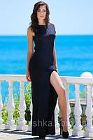 Черное платье в пол Сезар