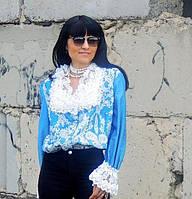 Блузка с вышивкой и кружевом (№63)