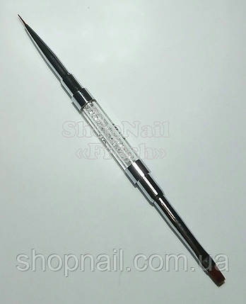 Кисть двухсторонняя для геля и LINER №4, 9 мм, фото 2