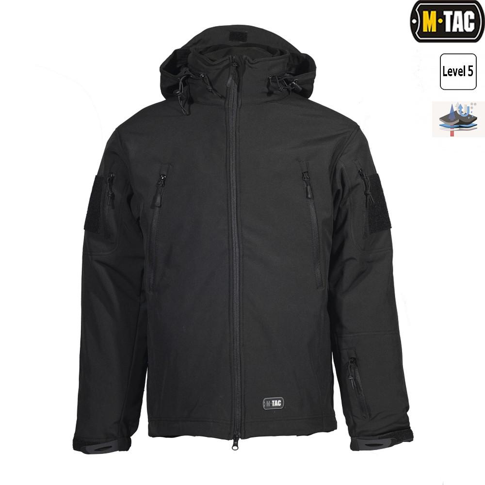 M-Tac куртка Soft Shell с подстежкой Black