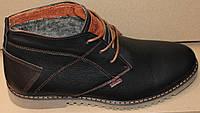 Мужские ботинки зимние кожаные, мужская обувь зимняя от производителя модель ГВЭП5К