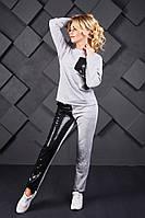 Спорт костюм с паеткой женский батал Е108