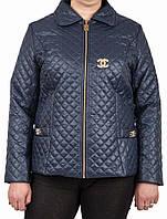 Куртка деми большой размер 50, 52, 54, 56, темно-синий