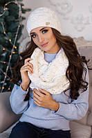 Комплект «Леруа» (шапка и снуд) 4460-8 белый
