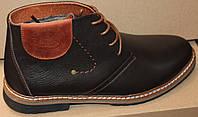 Кожаные мужские ботинки зимние, мужская обувь зимняя от производителя модель ГВЭП6