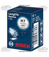 Лампа галогенная Bosch H7 12V 55W PX26d Longlife Daytime Plus 10