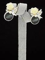 044939 Серьги 'Hand Made' Агат  украшение с натуральным камнем
