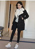 Зимове жіноче півпальто. Без капюшона. Модель 62145, фото 2