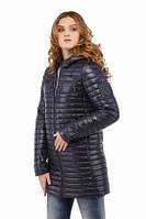 Куртка из стеганой плащевки демисезон синего цвета