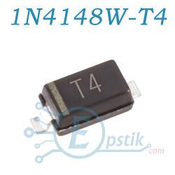 1N4148W, (T4), быстрый диод, 0.15A 100V, SOD123