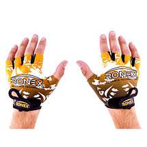 Перчатки для фитнеса Ronex Lycra+Amara RX-09, фото 2