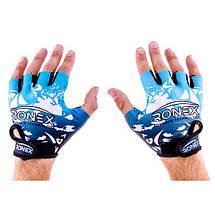 Перчатки для фитнеса Ronex Lycra+Amara RX-09, фото 3