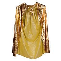 Накидка золотистая - карнавальный плащ детский 98 см