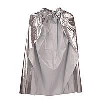Накидка серебристая - карнавальный плащ детский 98 см