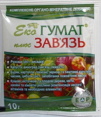 Добриво Екогумат+Зав'язь 10мл