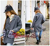Детское кашемировое пальто для девочки. 3 цвета