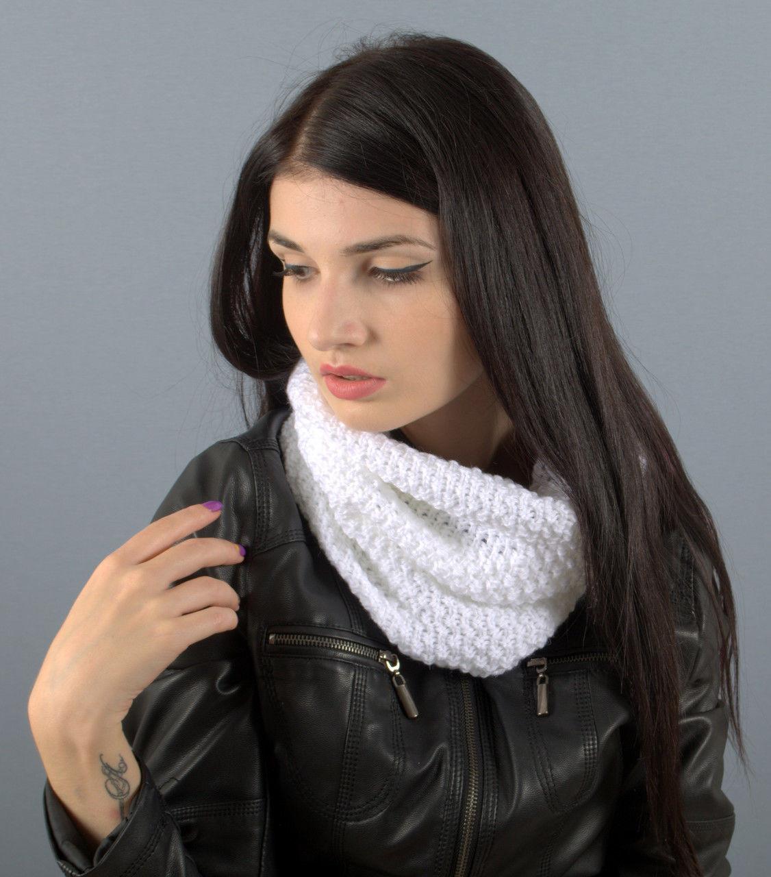 Вязаный шарф-хомут Nelli