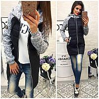 Куртка женская, модель 768,  черная 40